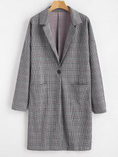 Manteau Masculin De Poche à Carreaux Avec Revers - Multi L