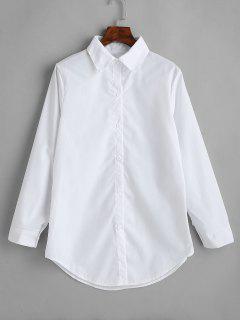 Chemise Longue Boutonnée - Blanc