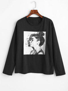 Figure Graphic T-shirt - Black S