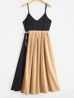 Robe Bicolore Nouée à Bretelle - Multi M