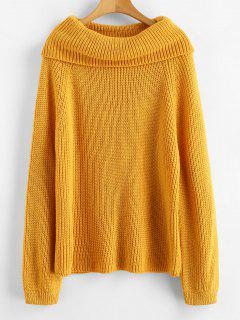 Raglan Sleeve Cowl Neck Sweater - Bee Yellow
