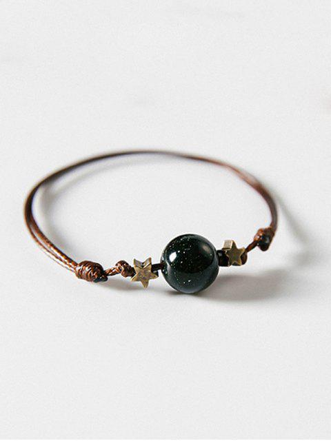 fancy Star and Ball Decoration Hand String Bracelet - MEDIUM SEA GREEN  Mobile