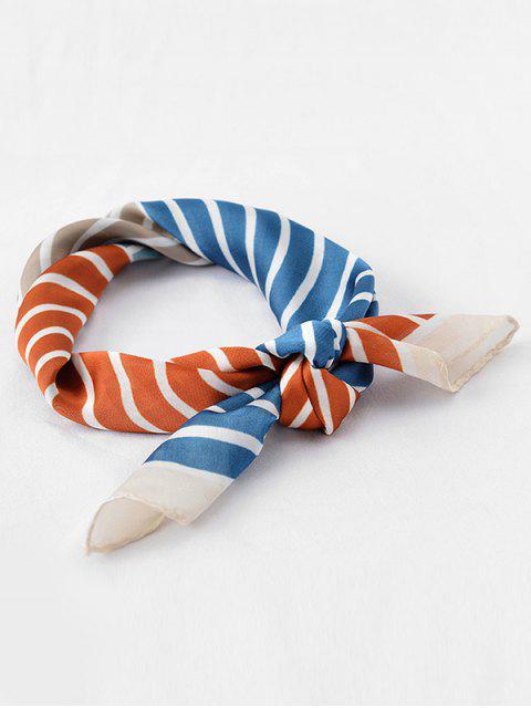 lady Vintage Color Block Stripe Scarf - TIGER ORANGE  Mobile