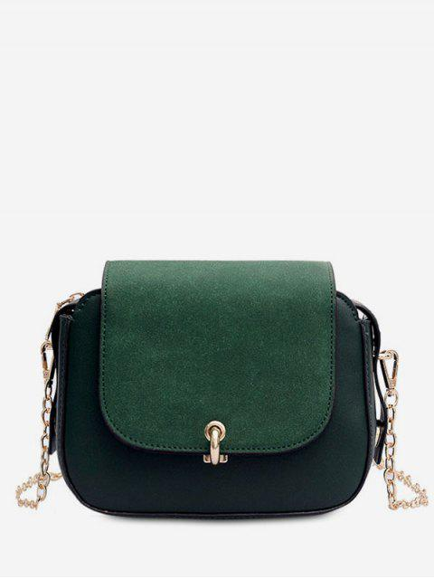 latest PU Leather Design Solid Color Crossbody Bag - SEA GREEN  Mobile