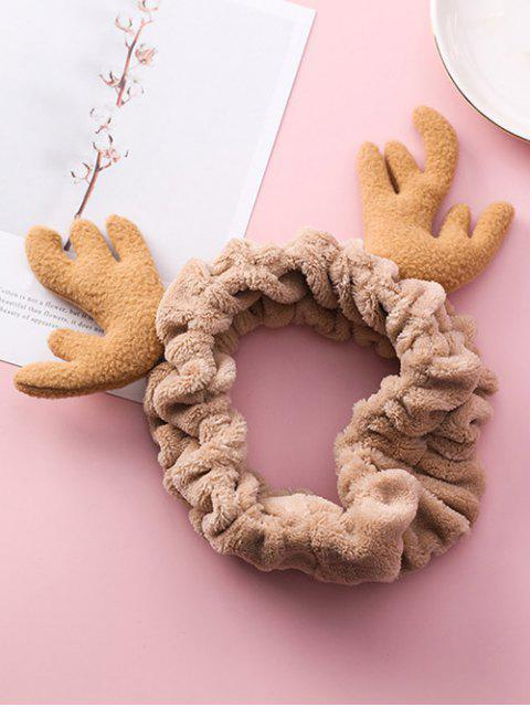 sale Christmas Antler Printed Fluffy Hair Band - GOLDENROD  Mobile