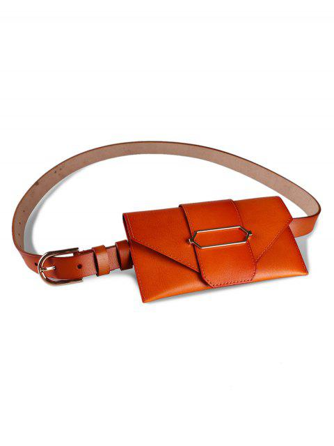 womens Stylish Funny Bag Faux Leather Belt Bag - CHOCOLATE  Mobile