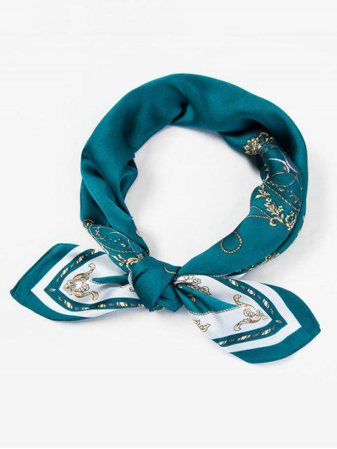 hot Vintage Tea Party Silky Scarf - SEA TURTLE GREEN  Mobile