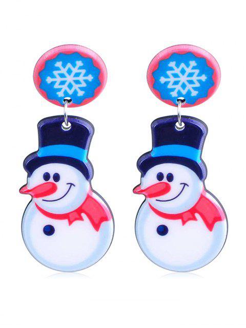 best Christmas Snowman Design Drop Earrings - MULTI-A  Mobile
