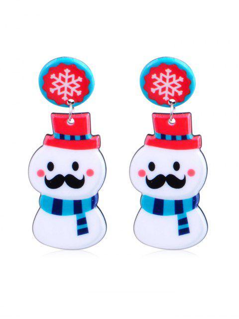 outfit Christmas Snowman Design Drop Earrings - MULTI-B  Mobile