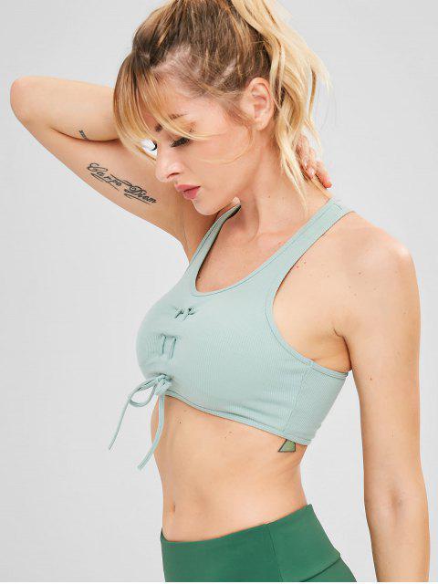 Racerback Kordelzug Yoga Gym BH - Cyan Opak M Mobile