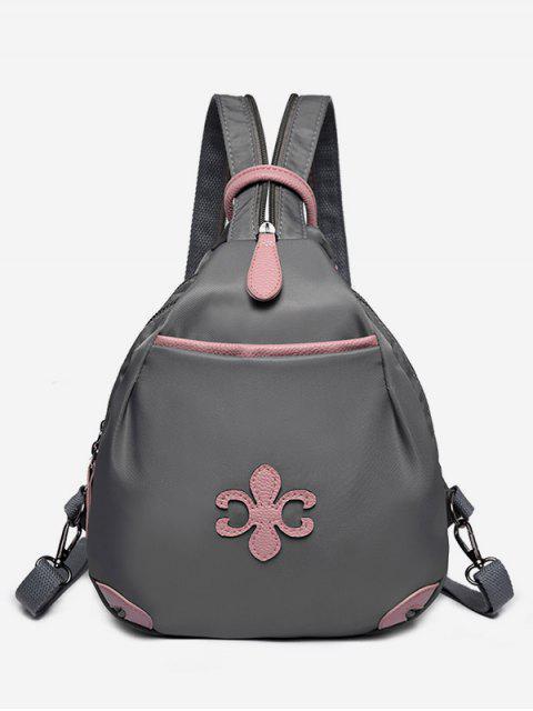 ladies Waterproof Design Mini Zipper Backpack - GRAY  Mobile