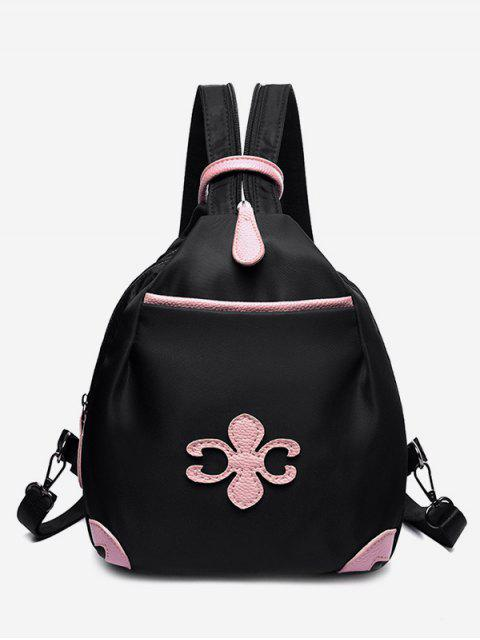 online Waterproof Design Mini Zipper Backpack - BLACK  Mobile