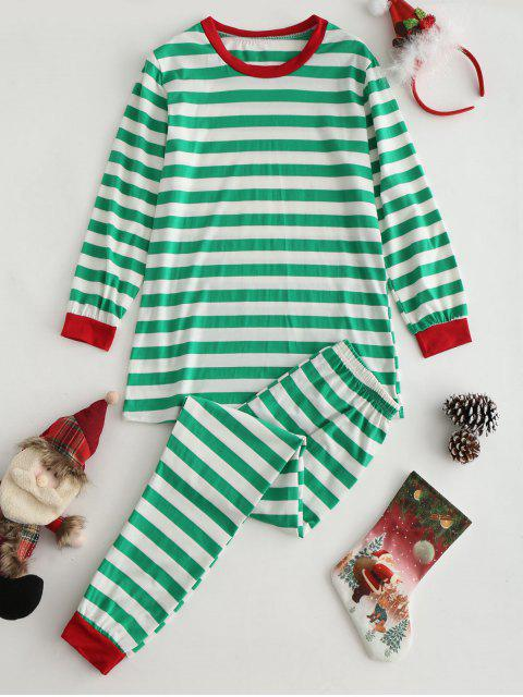 Top de rayas y conjunto de ropa de salón de pantalones - Multicolor M Mobile