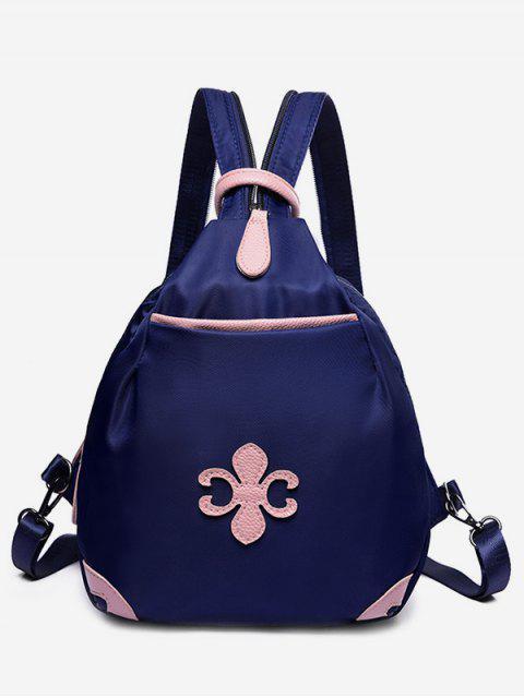 outfit Waterproof Design Mini Zipper Backpack - DEEP BLUE  Mobile