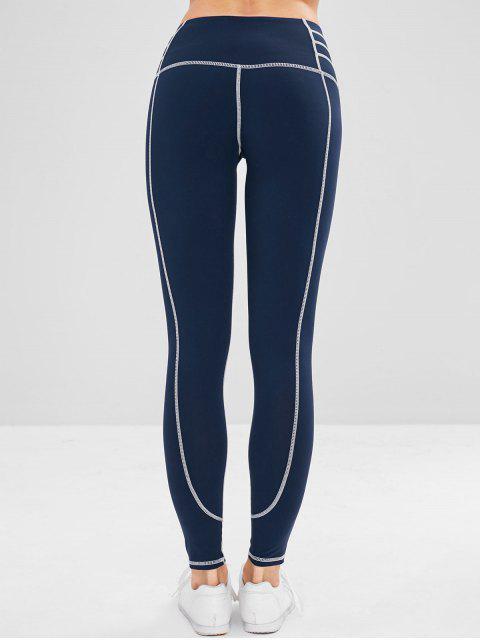 Leggings deportivos de yoga elásticos - Azul de Medianoche M Mobile