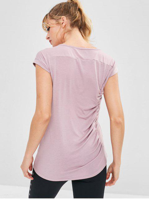 Camiseta de tirantes de deporte con pliegues deportivos - Rosado M Mobile