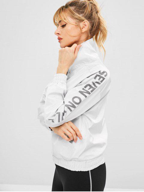 Pocket Half Zip Pullover Sportjacke - Hellgrau L Mobile