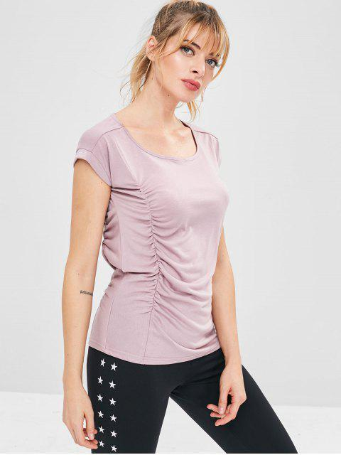 Sportliches gerüschtes Sport-Trägershirt - Rosa L Mobile