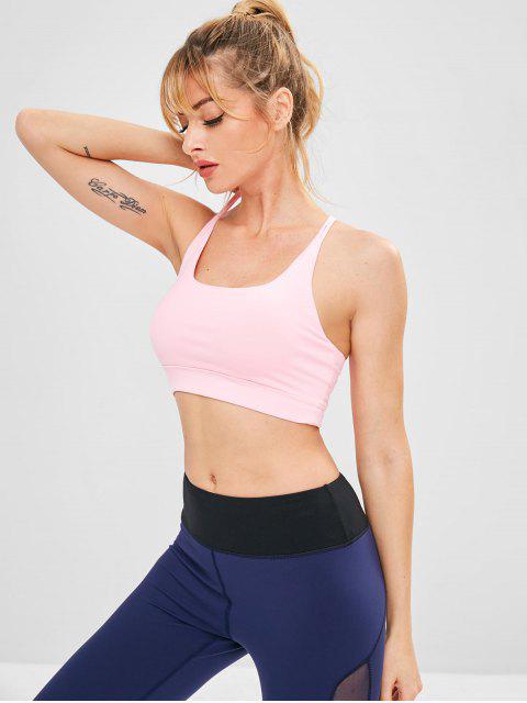 Cami Strappy Yoga Gymnastik BH - Rosa S Mobile