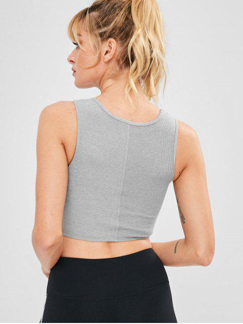 Twist Front Yoga Gym Tank BH - Hellgrau M Mobile