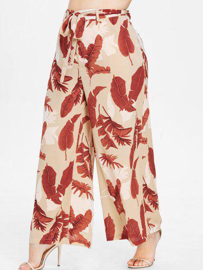 7bc302a1985 ... ZAFUL Plus Size Print Wide Leg Palazzo Pants - Multi 2x