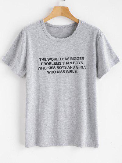 Text Print Graphic Jersey T-Shirt