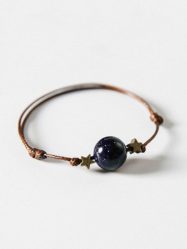 Star and Ball Decoration Hand String Bracelet