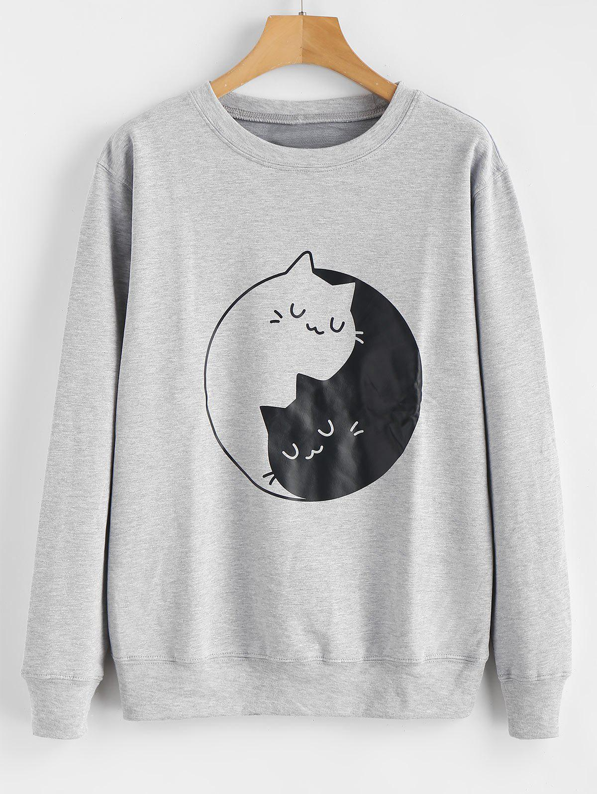 Kitten Print Graphic Sweatshirt thumbnail