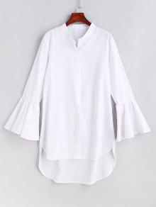 فستان بقصة ضيقة (فلير) - أبيض M