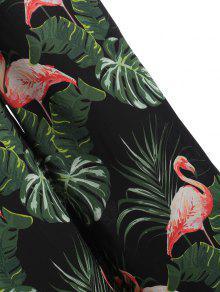 af4cc53908f NEW  2018 Plus Size Flamingo Palm Slit Wide Leg Pants In BLACK 4X ...