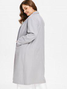 ZAFUL Plus Size Shawl Collar Wrap Coat