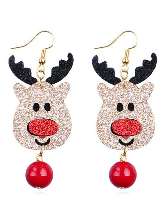 trendy Reindeer Ball Shape Dangle Earrings - MULTI