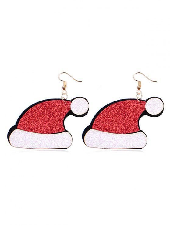 fancy Christmas Design Hat Shape Earrings - MULTI