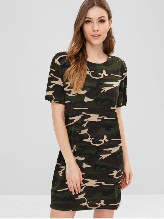 446b18f9ee 22% OFF] 2019 Short Camo Tee Dress In ACU CAMOUFLAGE | ZAFUL
