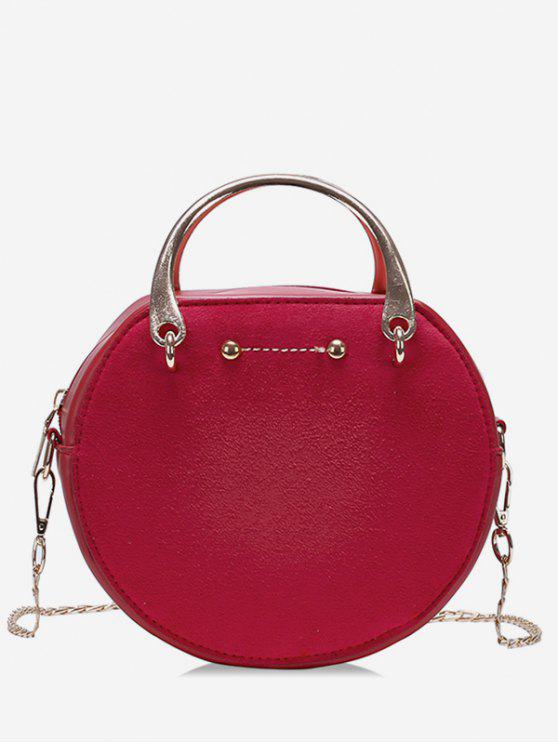 latest Circle Shape Suede Tote Bag - RED