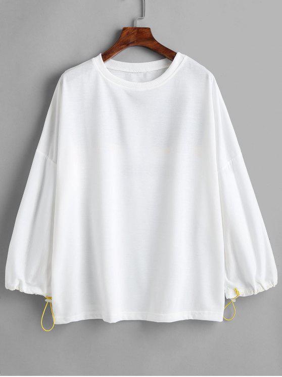 Sweat-shirt à lettres graphique surdimensionné - Blanc Taille Unique