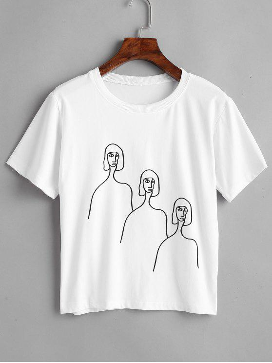 Camiseta de manga corta con gráfico - Blanco XL