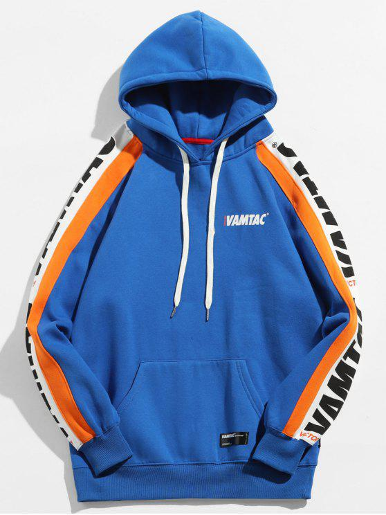 Canguro de bolsillo con capucha de forro polar - Azul Cobalto L