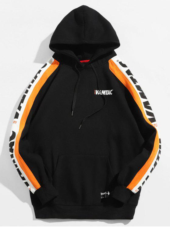 Canguro de bolsillo con capucha de forro polar - Negro M