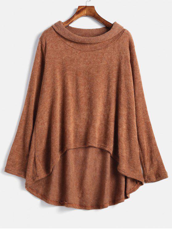 outfit High Low Loose Knitwear - TIGER ORANGE M