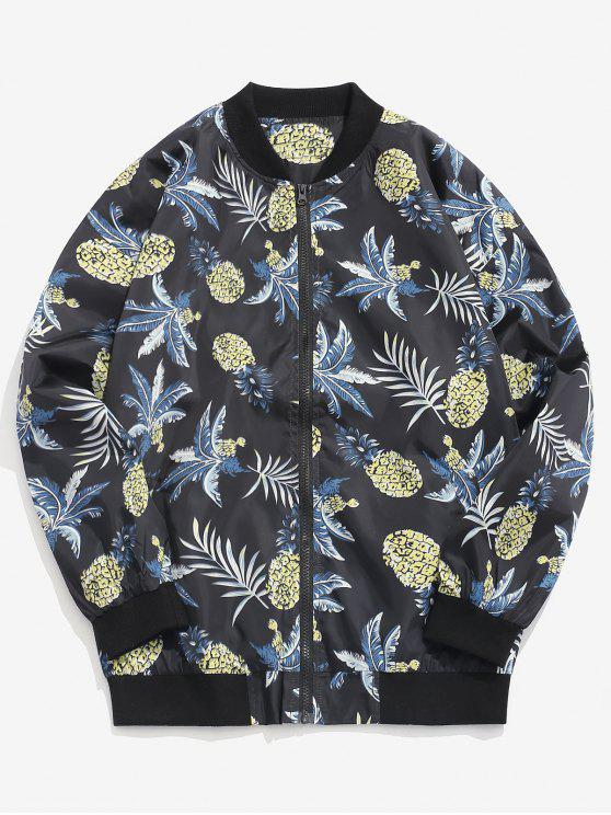 Giacca Con Stampa Ananas - Nero XL