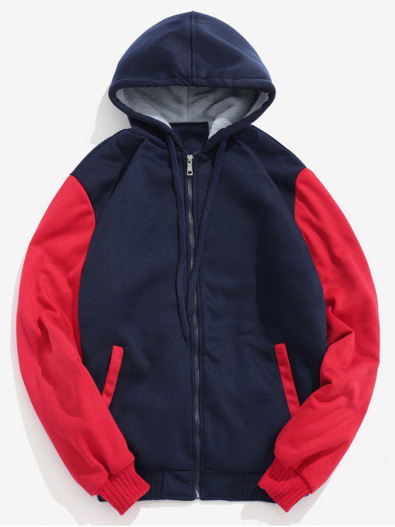 Veste Zippée à Doublure en Fausse Fourrure - Rouge XL