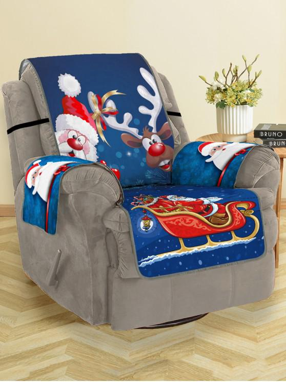 sale Christmas Santa Claus Elk Pattern Couch Cover - MULTI SINGLE SEAT
