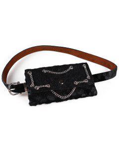 Punk Leopard Fanny Pack Belt Bag - Black