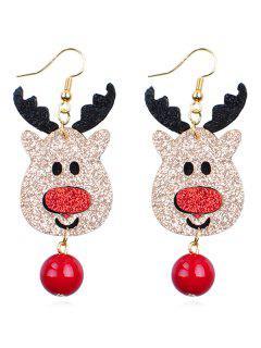 Reindeer Ball Shape Dangle Earrings - Multi