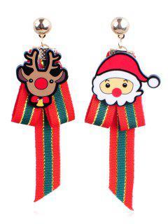 Christmas Reindeer Asymmetric Earrings - Multi