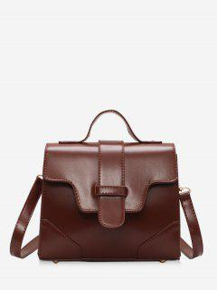 Magnetic Snap Cover Design PU Tote Bag - Red Wine
