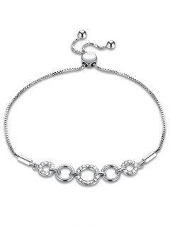 Sterling Silver Geometric Design Bracelet - Transparent