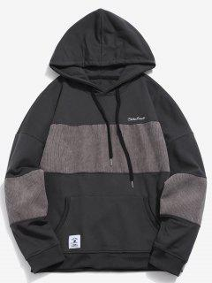 Loose Fit Striped Pullover Hoodie - Ash Gray L
