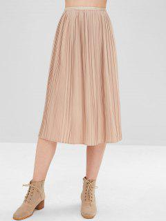 Midi Pleated Skirt - Deep Peach